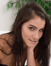 Mischel Lee is alone and her bedroom and finishing reading. This Czech beauty strips naked and shows off her 42DDD breasts and hairy pussy. She fingers her pussy deeply and is amazingly beautiful.