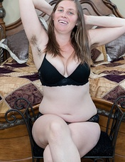 Lindsay has several lovers whom she entices via her mobile device. She loves to wear sexy lingerie and take pictures of her almost nude body, her pussy hairs poking out from underneath her panties.